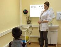 Определение остроты зрения у детей
