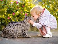 Ребенок с котом