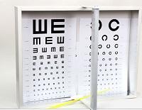 Проверка остроты зрения по таблице Сивцева