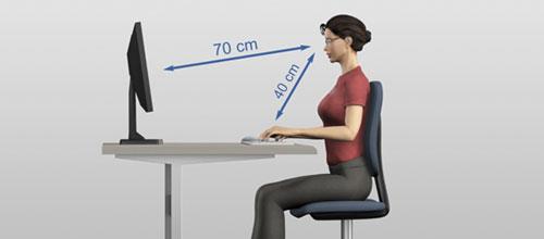 Правильное расстояние от глаз до экрана